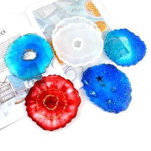 100pcs Coaster resina de moldeo molde de silicona joyería que hace epoxi molde del molde de artesanía artesanías decorativas Posavasos bandeja de base