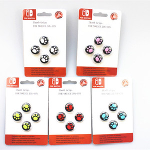 Cat Claw bonito Game Console Joystick Cap Para Nintendo Button Switch Console Jogo Cap 3D Rocker Proteção Cap Para NS Com pacote de varejo