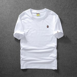 Summer Tide Brand Embroidered Solid Color Cotton T Shirt Short Sleeved Men &#039 ;S Casual Sports T -Shirt