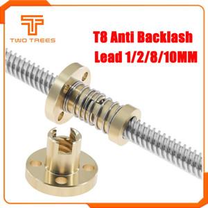 Pièces Imprimante 3D Accessoires T8 Anti Backlash printemps Loaded élimination Nut Gap écrou pour 8 mm Acme tige filetée Vis trapézoïdales Bricolage