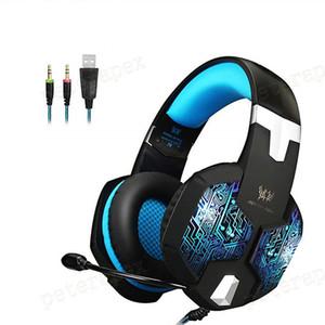 G1000 G9000 Gaming Auriculares con micrófono auriculares grandes Luz auriculares estéreo Deep Bass para PC del ordenador portátil Gamer PS4 New X-BOX