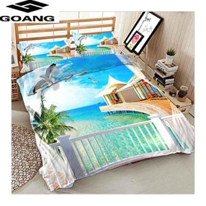 GOANG fashion hotel bedding set twin double king queen duvet cover set and pillowcases Beach bedding Holiday Promotional gifts