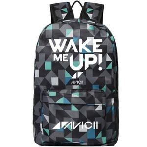 Avicii sırt çantası Uyandır beni daypack DJ Tim Bergling müzik okul çantası Serin eğlence sırt çantası Spor okul çantası Açık gün paketi