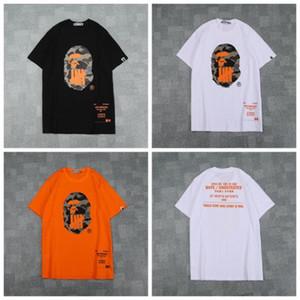 2019 homens verão mulheres camo impresso em torno do pescoço t-shirt dos homens casuais soltas de manga curta camisetas tamanhos m-2xl