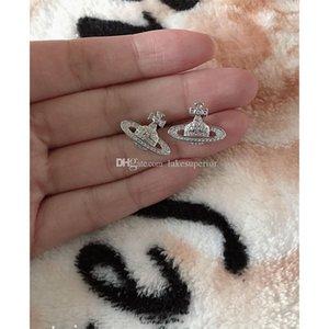 Neue Ankunfts-Satellite Planet Silber-Ohrring-Frauen Strass Orbit Ohrring Schmuck-Geschenk für die Liebe Freundin High Quality