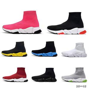 2019 Paris Top Design Chaussette Chaussures vitesse Entraîneur respirant Sneakers Vitesse Entraîneur Sock Course Partants classiques Chaussures noires Hommes Femmes Sport Chaussures