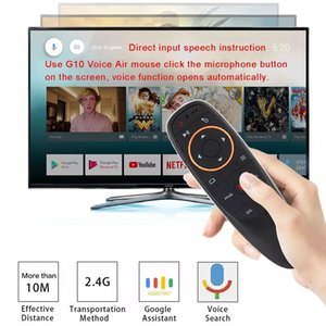 G10 Air Mouse 2.4G التحكم الصوتي ميكروفون لاسلكي للتحكم عن بعد 2.4G للتلفزيون الذكي / Android Box / PC Youtube Netflix Skype Facebook