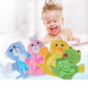 esfregar luvas de borracha zao artefato bebê cartoon banho de chuveiro para trás Novo criativo adoráveis crianças luvas de banho escova de banho de bola