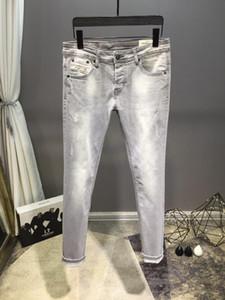 2020 20SS ИЗВЕСТНЫЙ БРЕНД MEN омыла ДИЗАЙН ПОВСЕДНЕВНАЯ SLIM ЛЕТНИЕ LIGHTWEIGHT Джинсовые STRETCH Джинсовые Skinny Jeans БРЮКИ Прямые Байкер Узкие джинсы