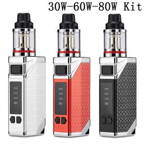 80W Vape Mods Eletronic Cigarette Starter Kits 2200mAh Caja Mod Batería Variable Vaporizador Vaporizador 3ML 510 Atomizador Grid E-Cigarette