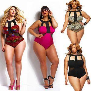 Maillot une pièce maillot de bain femme 2016 Hot Summer Beach matelassée Fat Bodysuit taille haute Maillot de bain Maillot de bain pour Lady 4XL