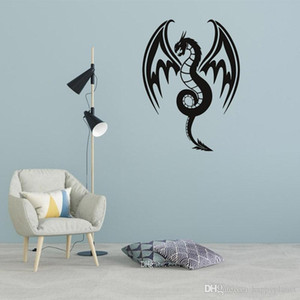 Hot Dragon pattern living room office wall decoration removable self-adhesive wall sticker Animals Vinyl Wall Stickers Self Adhesive Decor