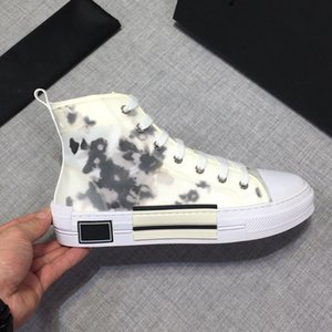 2019 NEW Flowers Technical Canvas High Top Oblique Casual shoes 3M Mens luxury Designer Shoes Womens fashion casual Shoes