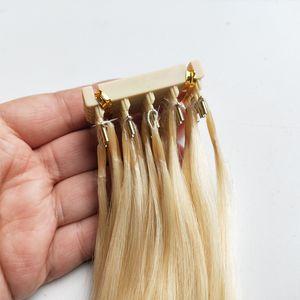 Menschliche Haarspange in Erweiterungen Pre Bond 6d Haarverlängerungen Blonde Neueste Produkte 100g 100Stellen Schnell tragen vollen Kopf 14 bis 28 Zoll Keratin
