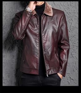 Jaquetas de grife de moda dos homens novos de pele de uma peça de couro dos homens juventude lapela jaquetas casuais moda masculina clothing