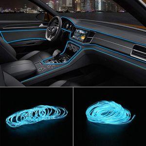 Hitwh 5 mètres voiture lumière éclairage automatique LED bande el câble corde auto atmosphère lampe décorative flexible néon lumière bricolage