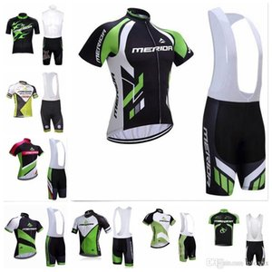 2020 Summer Breathable Men &#039 ;S Short Sleeve Bib Shorts Sports Jersey Set Merida Team Cycling Short Sleeves Jersey Bib Shorts Sets S71