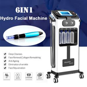 6in1 Hydra Gesichtsmaschine Anti Aging Dr Stift Electric Derma Stift Wasser Sauerstoff Jet Peel Haut Verjüngung