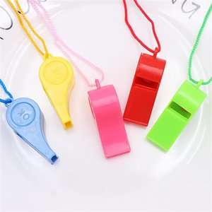 12PCS Creative Children's Party Whistle Noise Maker Party Favors Gifts Whistles With Lanyards For Party Cheer Up Random Color