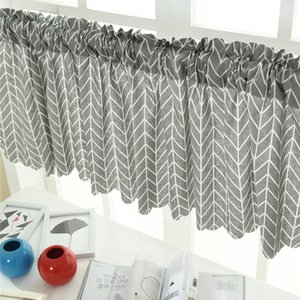 150*45CM Multicolor Curtains Extra Wide and Short Window Treatment Kitchen Living Restaurant Bathroom Children's Bedroom