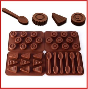 Animaux Ronde Numéro forme de coeur Lollipop Pentagram Chaussures Fan Sac forme silicone gâteau au chocolat moule bonbons Cuire gâteau moule