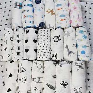 47 style Hot Newborn 100% coton couverture Serviettes de bain pour bébé infantile bande dessinée couverture en mousseline animale emmaillotez couverture bébé 120 * 120cm