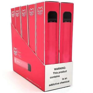 Üst Kalite PUFF BAR PLUS Tek e-kartuşlar Vape Kalem 550mAh Pil 3.2ml Ön Dolgulu Vape Bakla e Cigs Taşınabilir Vaporizer Cihazı