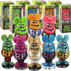 8 Style RAT FINK Bobblehead Doll Crazy Mouse Action Figure Ratfink Model Toys for Car Decoration