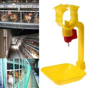 10pcs Poultry Hanging Cup Drinking Fountains Birds Water Bowl Nipple Red Coop Feed Poultry Water Drinking Cups for Chicken Farm