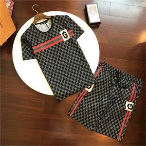 Mens designer tracksuit shorts sets Designer Tracksuit Jackets Set Fashion Running Mens Sports Short sleeve Suit Letter Slim Clothing Track
