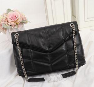 럭셔리 디자이너 핸드백 LOULOU 호흡기 더블 체인 숄더 가방 누비 양가죽 핸드백 높은 품질 여성 가방