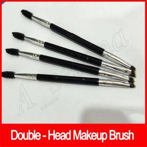 Макияж Бровей Бровей Кисти для Бровей 12 # Синтетический Дуэт Кисти для Макияжа Двойные Брови Кисти Головы Кисти Комплект Pinceis Eyeshadow brush бесплатная доставка