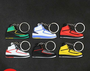 Sneaker Chaveiros bonito mini-Silicone AJ chaveiro tênis de basquete mochila pingente keyring sapatos de força criativas dom brinquedos keychain zdl0326.