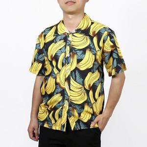3D Muz Komik 3D Baskı Hawaii Gömlek Erkekler Yaz Kısa Kollu Tropikal Aloha Gömlek Erkek Tatil Tatil Giyim