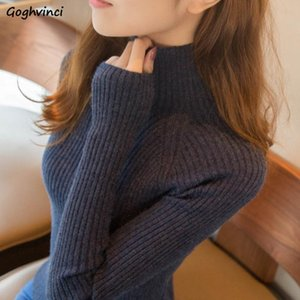 Sweaters Women Winter Turtleneck Pullovers Solid Knitting Womens All-match Thick Simple Korean-style Elegant Slim Ulzzang Trendy