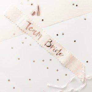 156 * 9.5cm de oro rosa novia del equipo como entrega de bienes boda del marco de la decoración de raso de novia de la ducha del marco del partido de Bachelorette de la gallina Decoración de fiesta