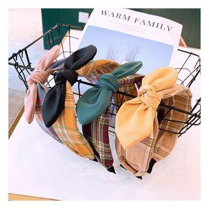Retro British style solid color bow Original Korean hoop custom child hair bands Variety hairpin Headwear