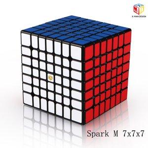 XMD Qiyi X-Man conception Spark et Spark M 7x7x7 Cube magnétique professionnelle Mofangge 7x7 Magic Speed Cube Twist Jouets éducatifs Y200428