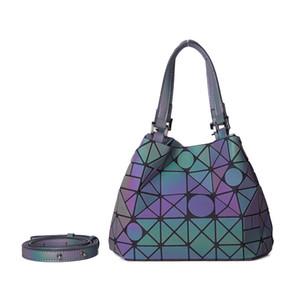 bayanlar 2019 katlanabilir büyük Bez hobo kadın geometrik torba holografik refretion için LOVEVOOK kadın omuz çantaları crossbody çantaları