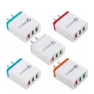 QC3 3 USB portları Samsung S6 S8 S10 htc android telefon pc mp3 için hızlı Hız 4.8a Güç adaptörü Duvar Şarj QC3.0