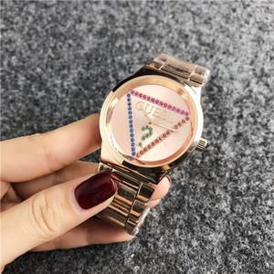 2020 Moda Marka kadın erkek Kız kristal kadran bayanTahminPaslanmaz çelik metal grubu kuvars kol saati kadınlar Bilezik İzle