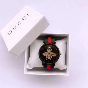 Пчелка 3D циферблат новое поступление бренд мужские женские унисекс платье кварцевый красочные нейлон Мужчины Женщины свободного покроя спортивные часы мужской часы Леди часы Relogio