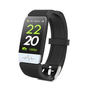 Spor izci Bluetooth Smart Sport Bilezik EKG + PPG Bileklik İzle Nabız Halkalar IP 67 Su geçirmez Akıllı Bant İçin IOS Android