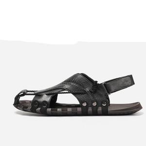 Sandales spartiates pour hommes en cuir naturel Hecrafted 38 ~ 47 Chaussures d'été pour hommes