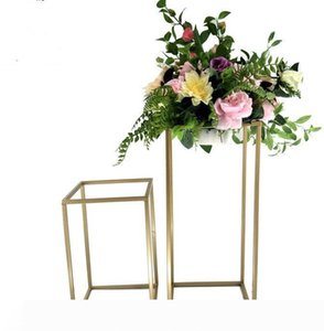 New Style Wedding Metal Gold Color Flower Vase Column Stand for Party Decoration Wedding Centerpiece Decoration
