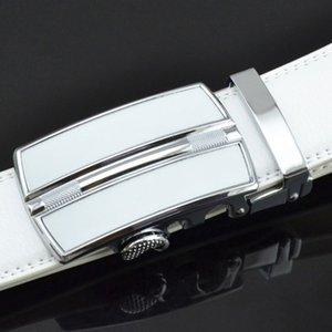 Big size fat outside the trade lengthened men versatile alloy automatic buckle leather waist belt man belt