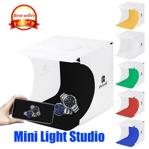 Мини Складной студии Диффузный софтбокс с LED Light Black White Background Photo Studio Accessories фотостудии коробки