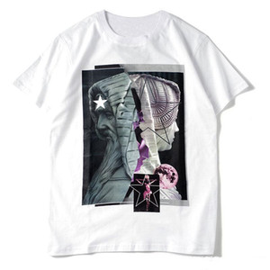 Мужские рубашки StylistT Мужчины Женщины Повседневная Black White Summer тенниска Мода Хип-хоп Streetwear с коротким рукавом Размер S-XXL