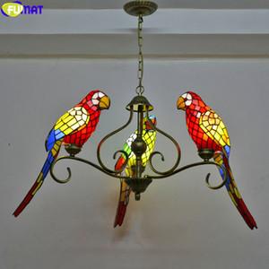 FUMAT style Tiffany Parrot Abat Suspension multi Vitrail classique Hanging Luminaire Art Éclairage décoratif