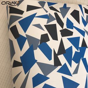 Black Blue Bianco Artico Camouflage / Vinyl Camo per Auto Wrap Pixel Camo Sticker Film con Air Release Vehicle Graphic